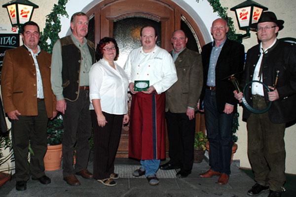 Restaurantplakette Gasthaus Honigwirt, OÖ LJV