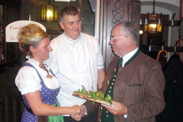 Restaurantplakette Gasthaus Kirchenwirt, OÖ LJV