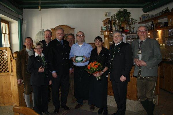 Restaurantplakette Gasthaus Fellner, OÖ LJV