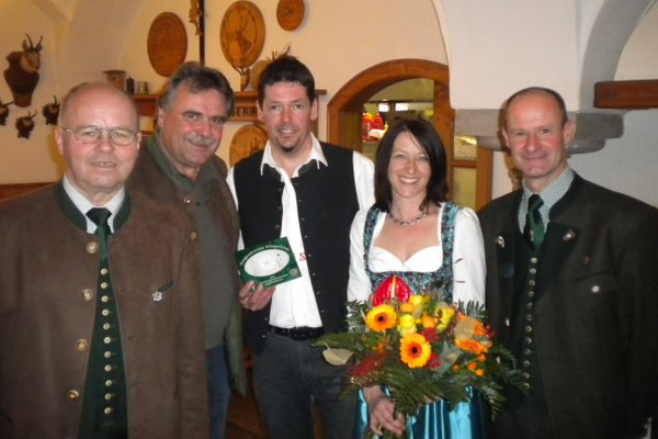 """Restaurantplakette Gasthaus """"Zum Schwarzen Grafen"""", OÖ LJV"""