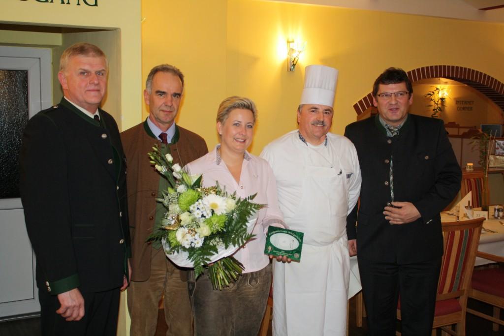 Restaurantplakette Hotel Donauschlinge, OÖ LJV
