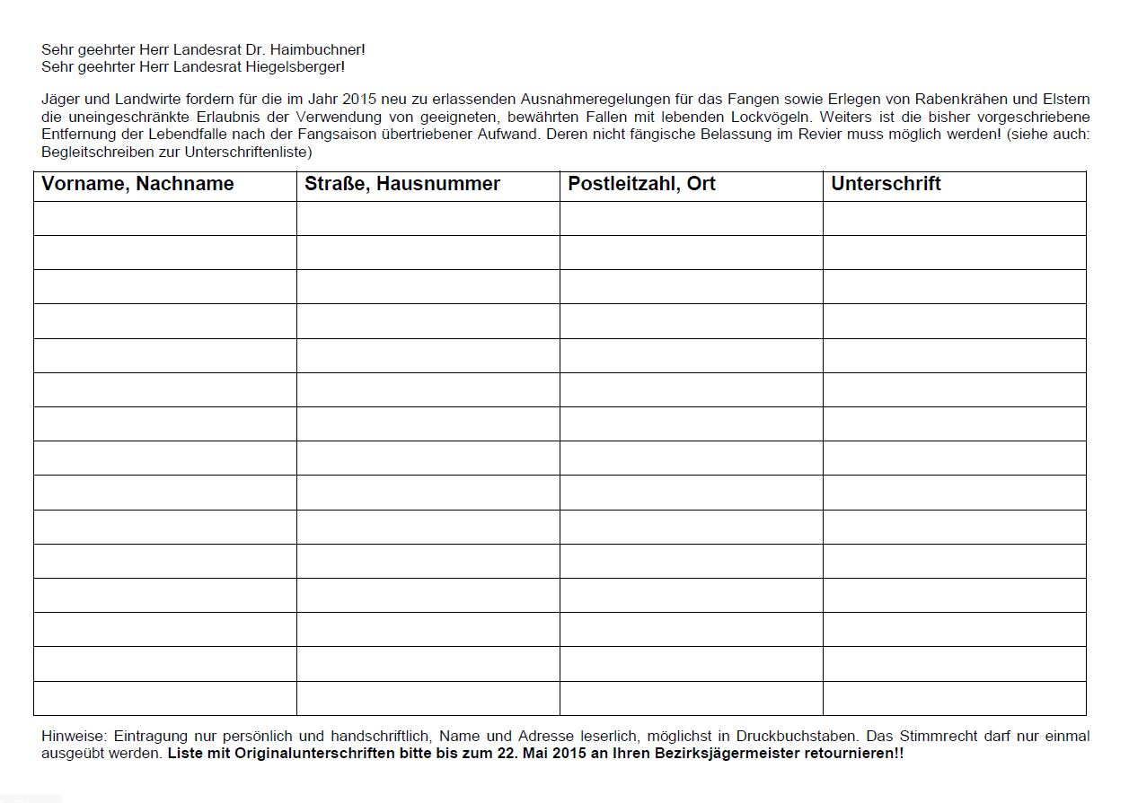 Unterschriftenaktion - jetzt mitmachen!
