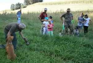Jagdgesellschaft aus Niederthalheim, OÖ LJV