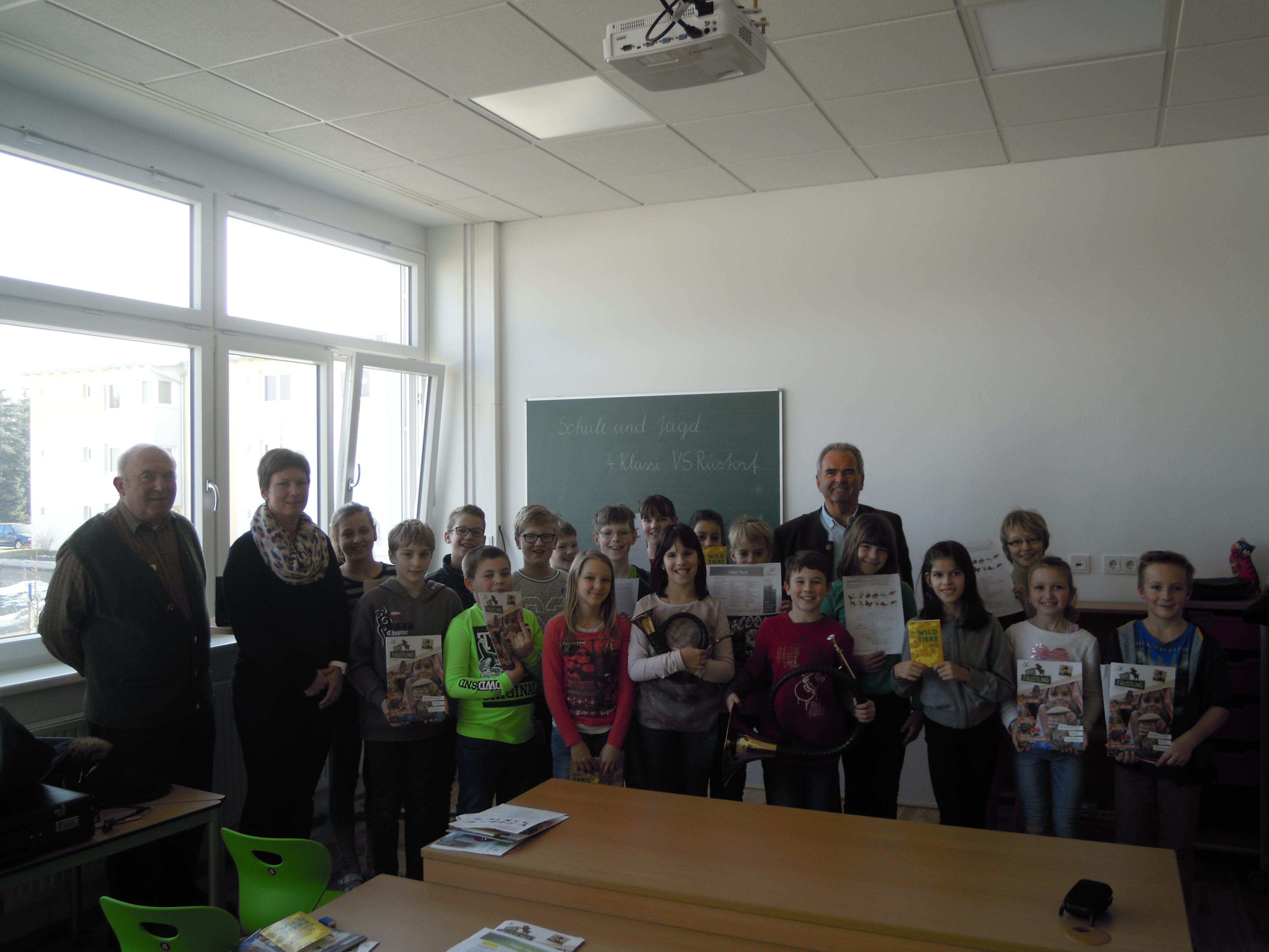 Tolles Projekt Schule und Jagd in VS Rüstorf – OÖ LJV