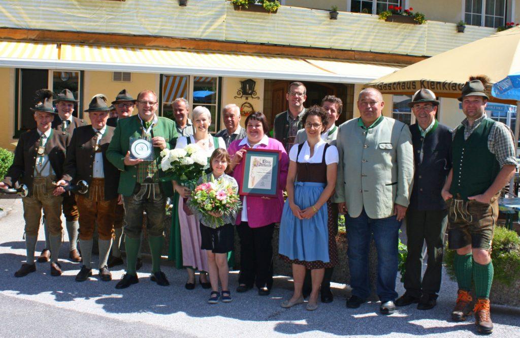 GH Kienklause Steinbach Wildbretplakette
