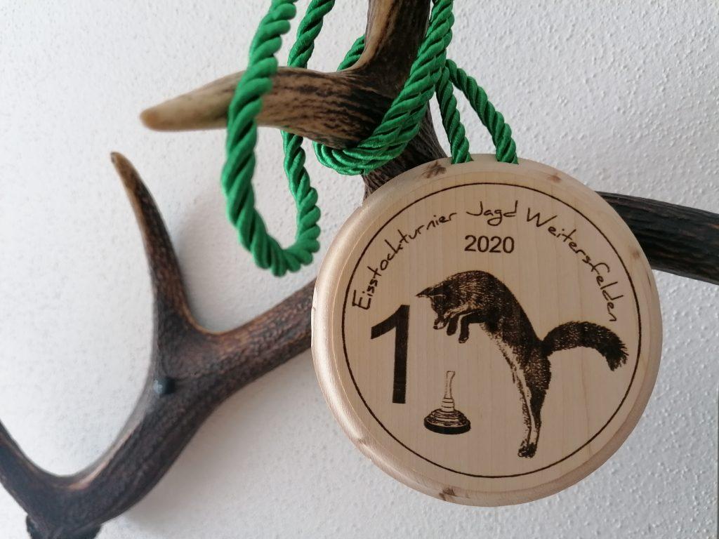 Bezirkseisstockmeisterschaft für Jäger 2020 in Weitersfelden, OÖ LJV