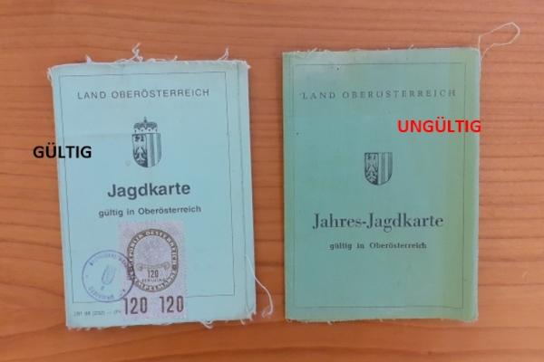Jagdkarte 1988 und aktuell