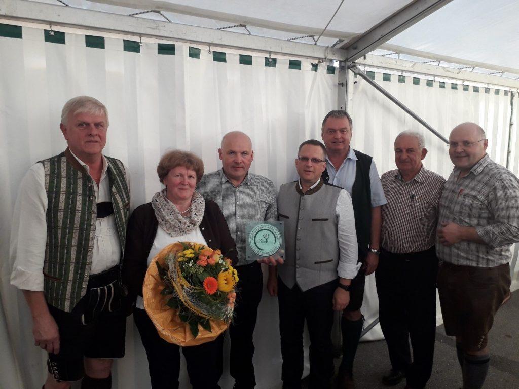 Restaurantplakette Metzgerei Haslinger St. Willibald, OÖ LJV