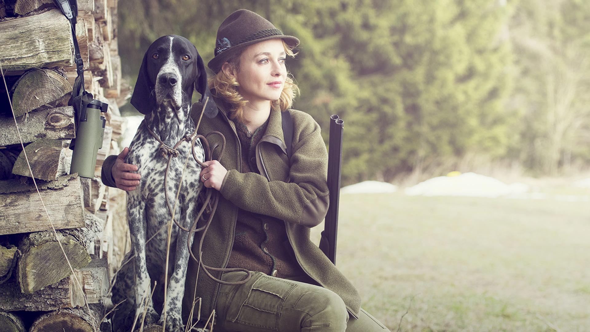 Frau in der Jagd